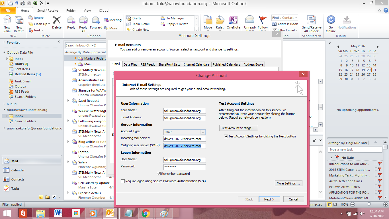 meeting manager outlook change